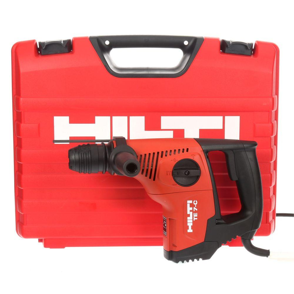 hilti te 7 c 120 volt sds plus hammer drill kit 3476284 the home depot rh homedepot com