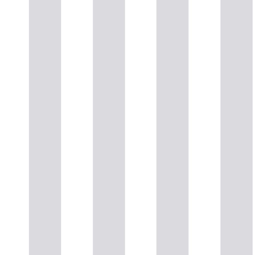 Graham Brown Silver And White Stripe Wallpaper