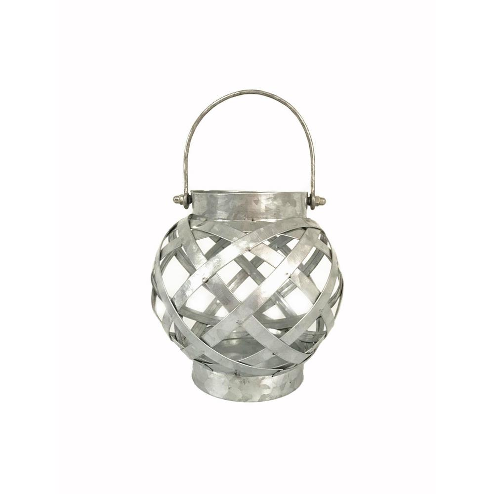 Hampton Bay 6 in. Galvanized Round Steel Lantern