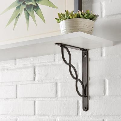 6.5 in. x 9 in. Oil-Rubbed Bronze Triple Scroll Decorative Shelf Bracket