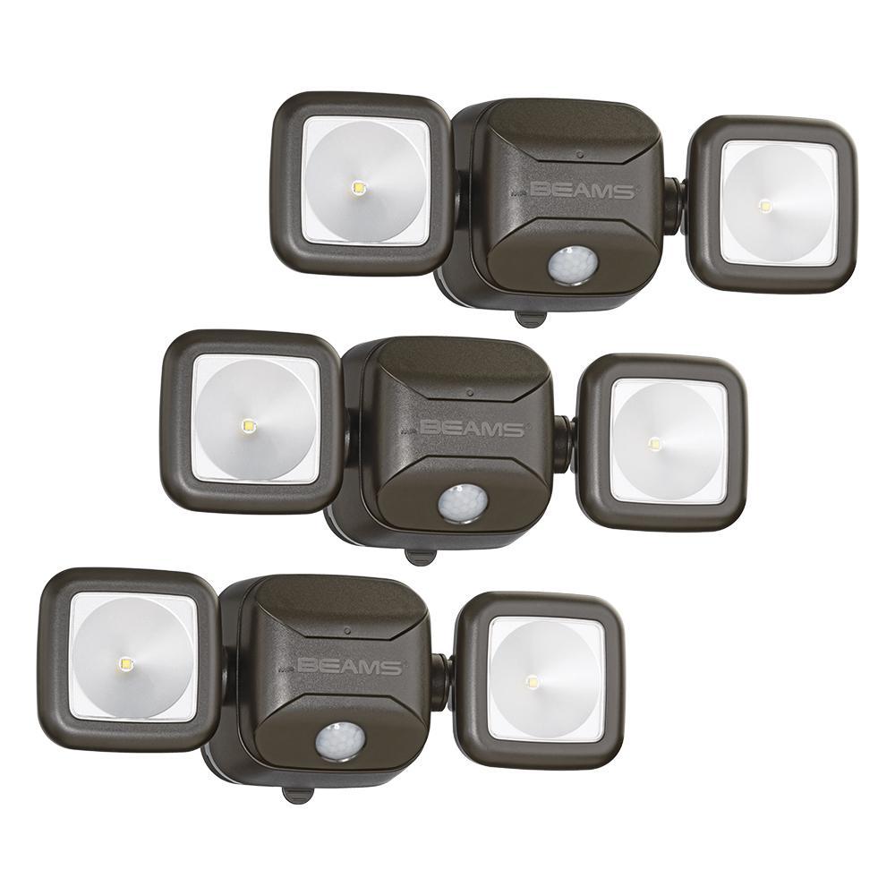 Mr Beams Wireless 140-Degree Bronze Motion Sensing Outdoo...