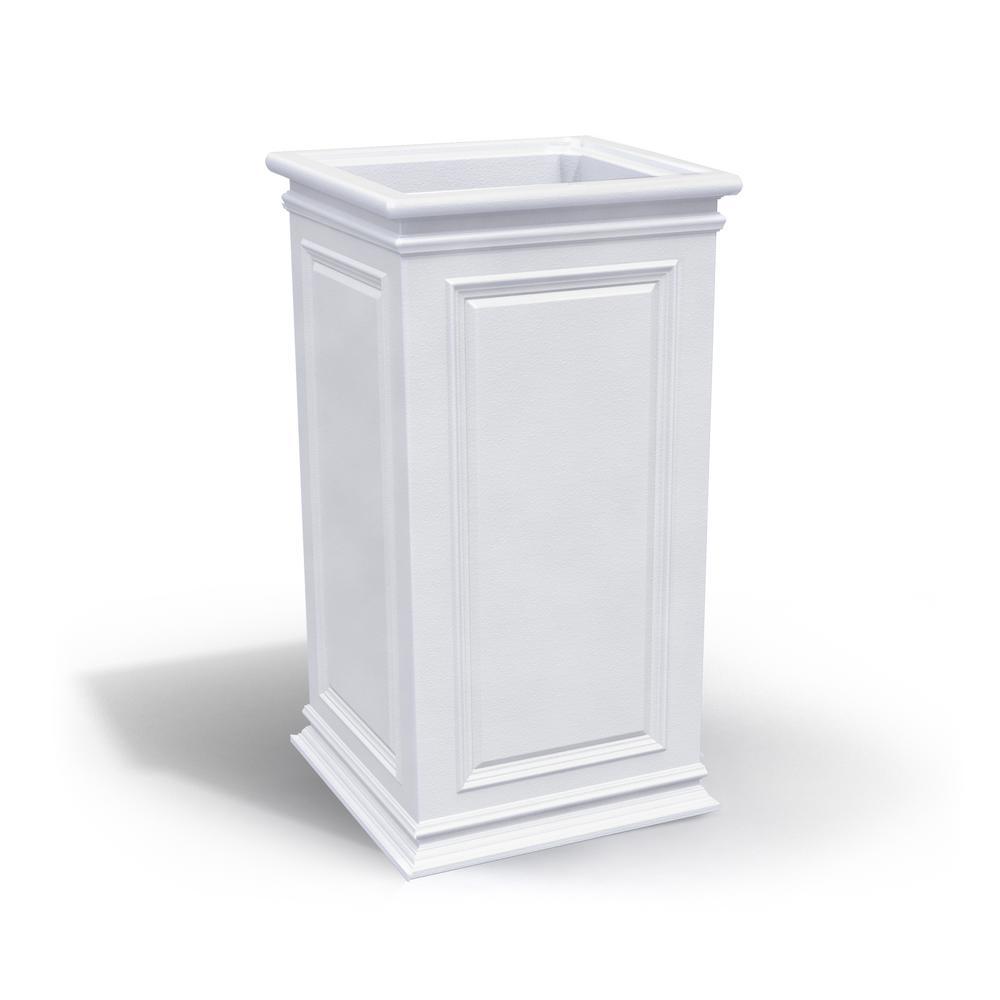 27 in. White Plastic Covington Tall