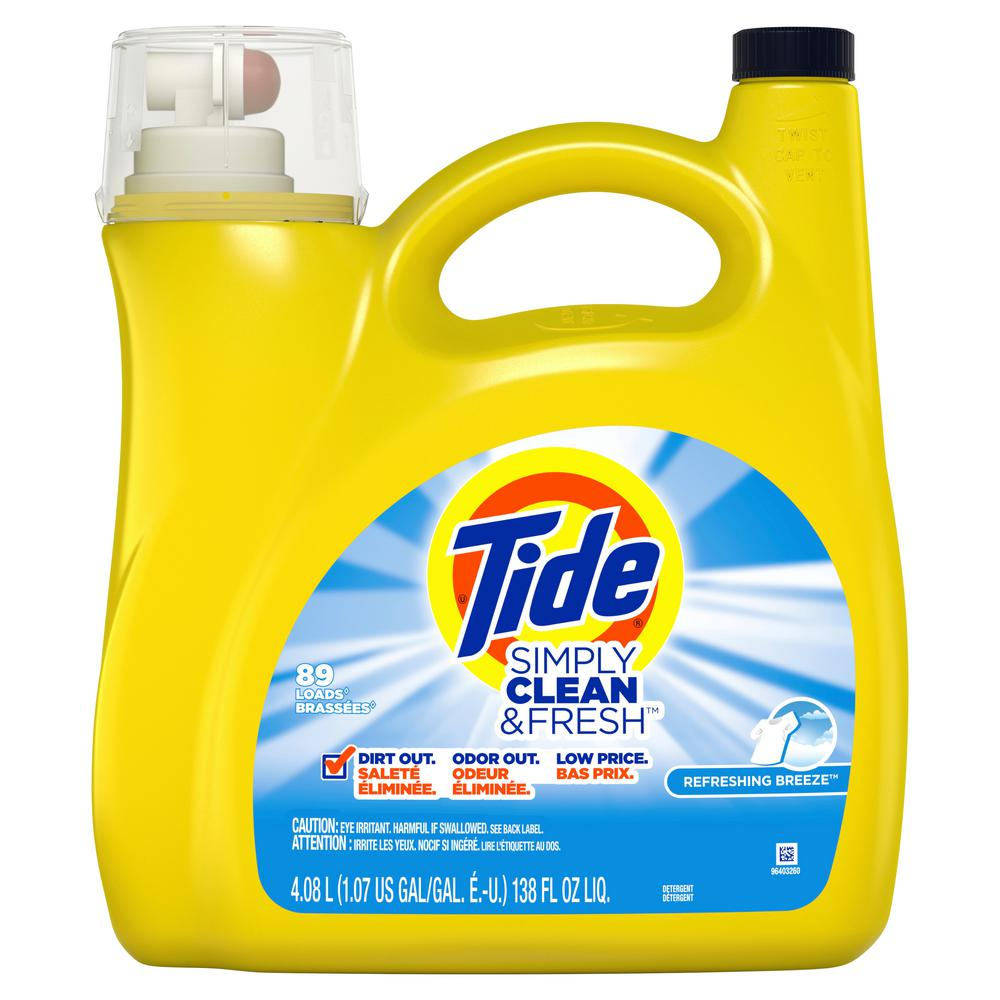 Tide Simply Clean And Fresh 138 Oz Refreshing Breeze Liquid