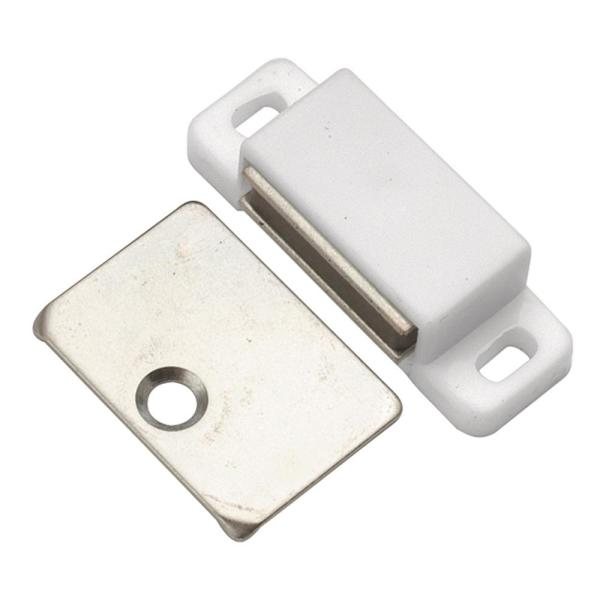 Catches Collection 1-7/16 in. C/C Cabinet Door Catch White