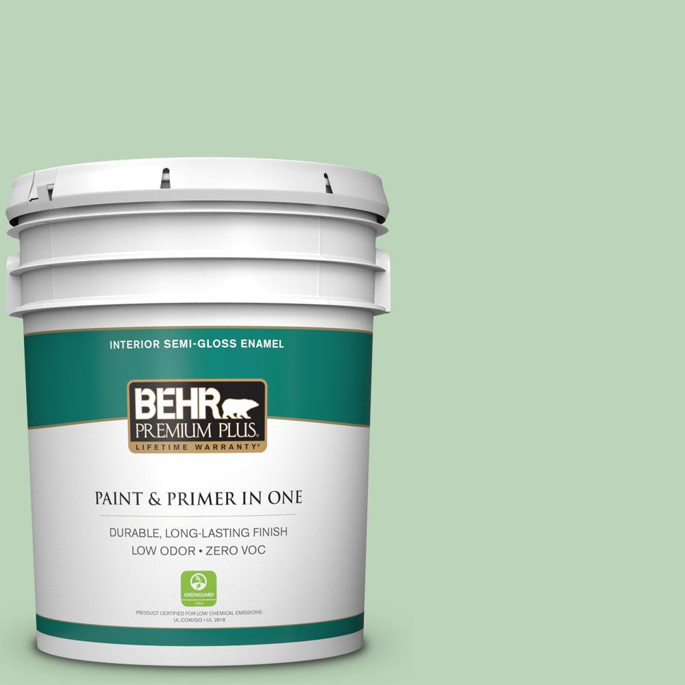 5-gal. #M400-3 Bok Choy Semi-Gloss Enamel Interior Paint