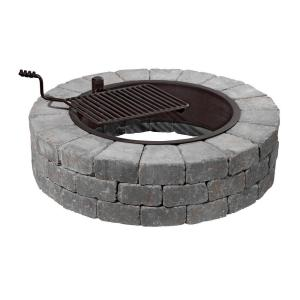 Necessories Grand 48 inch Fire Pit Kit in Bluestone with Cooking Grate by Necessories