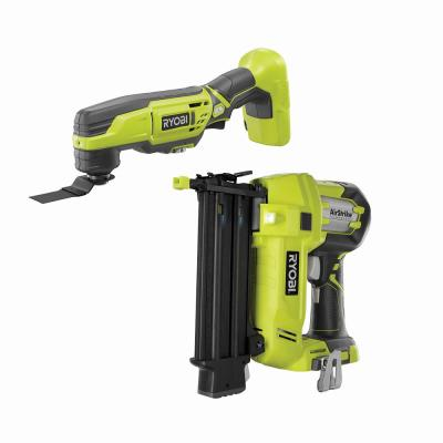 ONE+ 18V Cordless AirStrike 18-Gauge Brad Nailer with ONE+ 18V Cordless Multi-Tool (Tools Only)