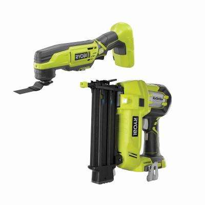 18-Volt ONE+ AirStrike 18-Gauge Cordless Brad Nailer w/ 18-Volt ONE+ JobPlus Base w/ Multi-Tool Attachment (Tools Only)