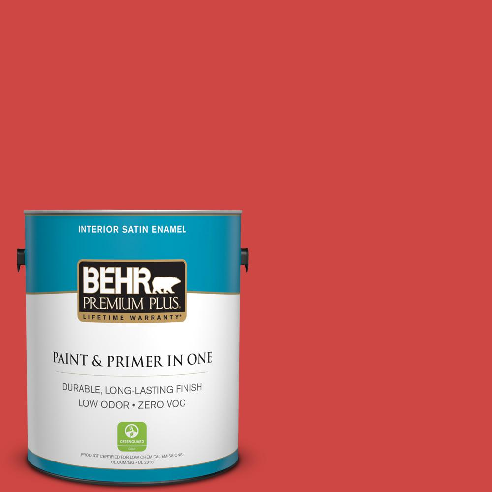 1-gal. #P170-6 Race Car Stripe Satin Enamel Interior Paint