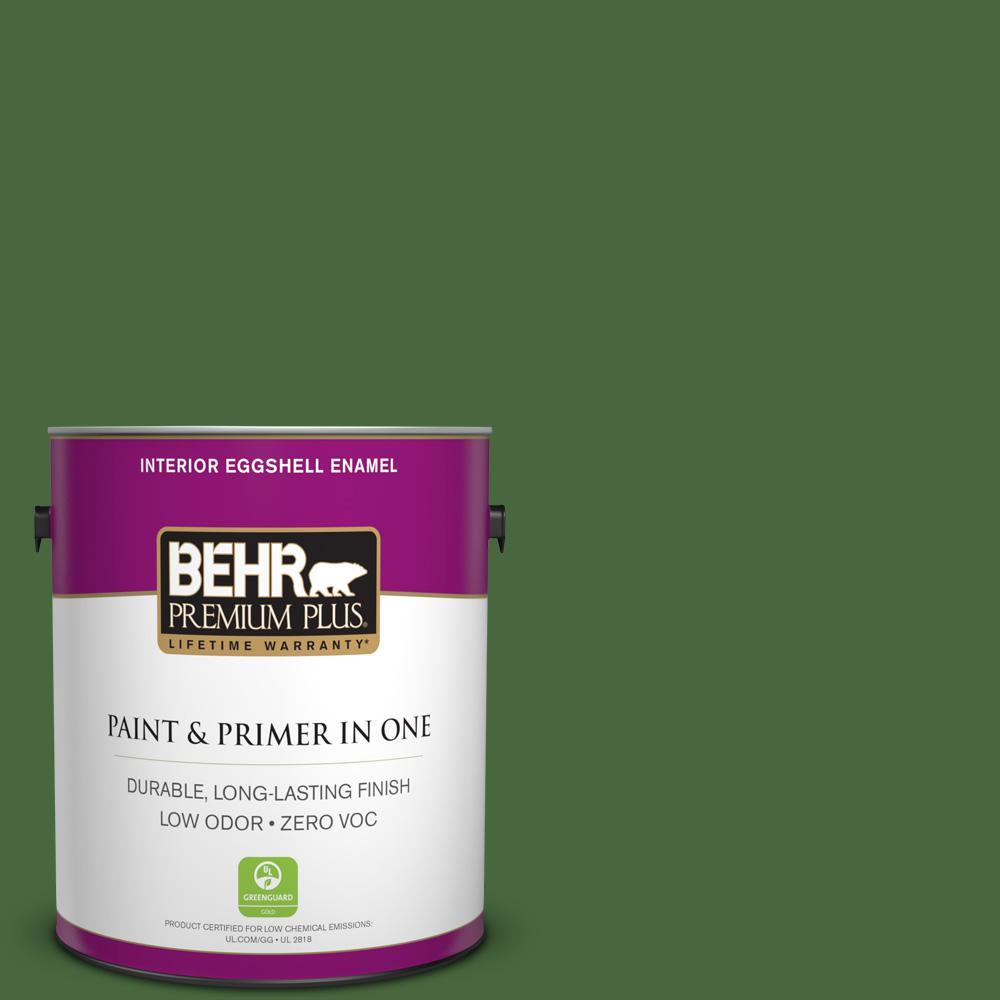 BEHR Premium Plus 1-gal. #M380-7 Alfalfa Extract Eggshell Enamel Interior Paint
