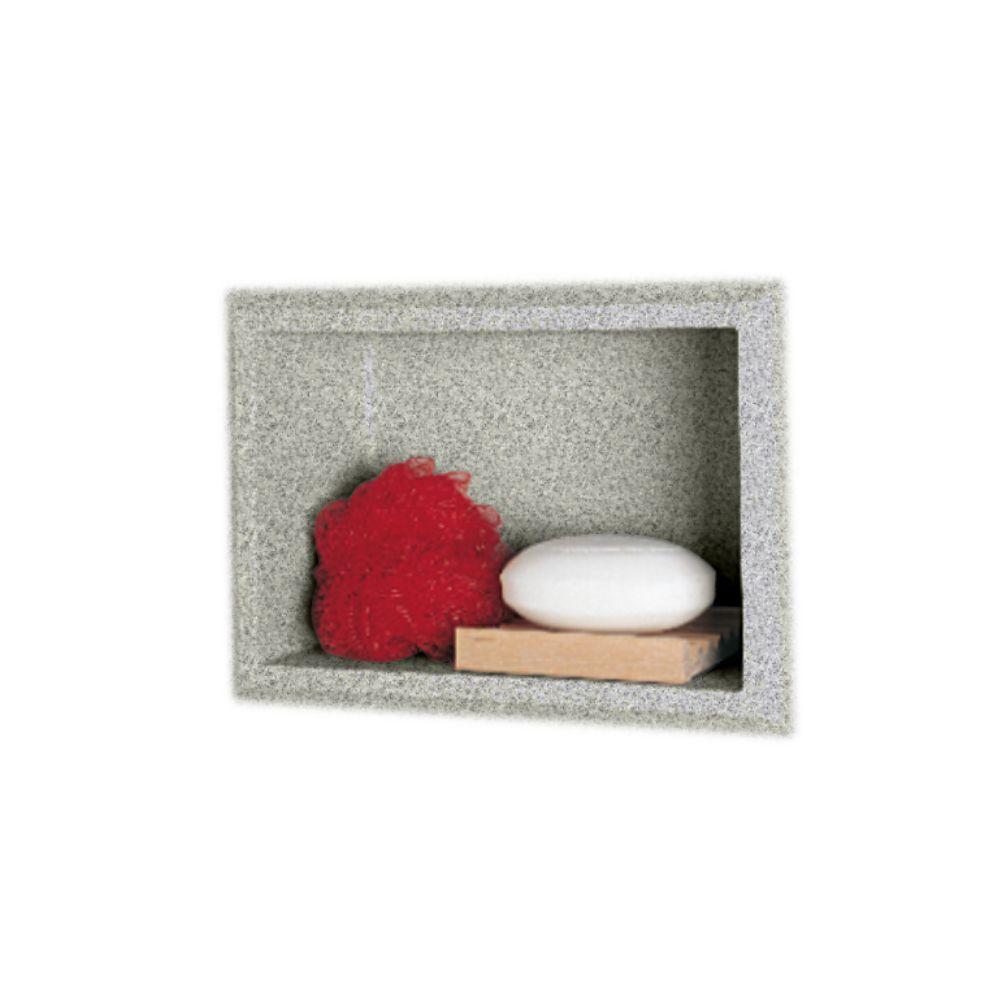 4-1/8 in. x 7-1/2 in. x 10-3/4 in. Recessed Accessory Shelf in Gray Granite