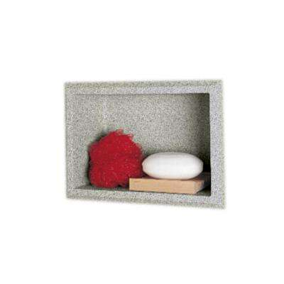 4-1/8 in. x 7-1/2 in. x 10-3/4 in. Recessed Accessory Shelf in Gray Granite