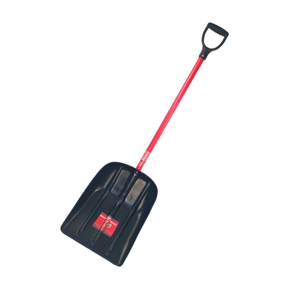 Mulch/Snow Scoop with Fiberglass D-Grip Handle