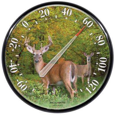 12.5 in. Deer Analog Thermometer