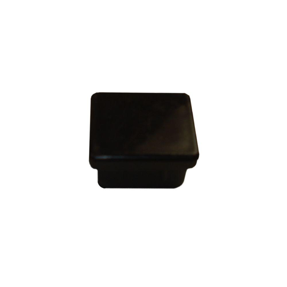 1 In X 1 In X 1 2 In Black Plastic Fence Cap 10 061 010 The Home Depot