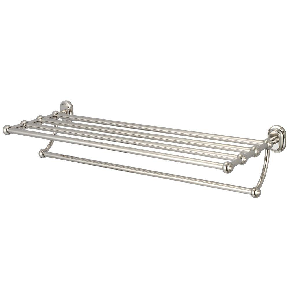 Towel Bar And Bath Train Rack In Polished Nickel Pvd