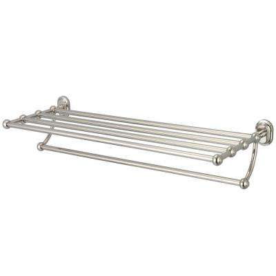 29 in. Towel Bar and Bath Train Rack in Polished Nickel PVD