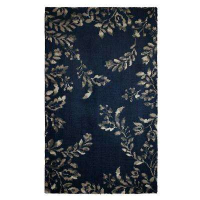 Winchester Plush Knit Navy Blue 2 ft. x 5 ft. Area Rug
