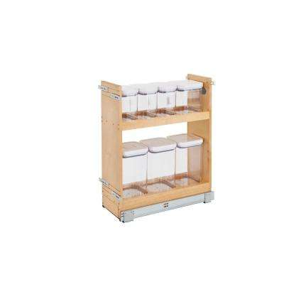 25.5 in. H x 8.5 in. W x 21.56 in. D Pull-Out Wood Base Cabinet OXO Organizer with Soft-Close Slides