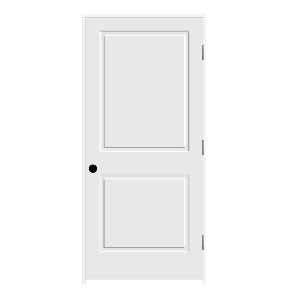 36 in. x 80 in. Primed Left-Hand C2020 2-Panel Square Top
