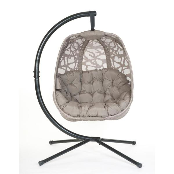 5.5 ft. Free Standing Hammock Chair with Stand in Branch