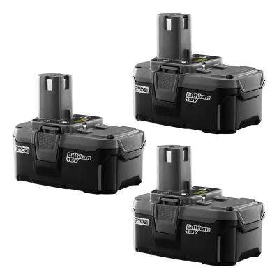 18- Volt ONE+ Lithium-Ion High Capacity Battery Pack 2.6Ah (3-Pack)
