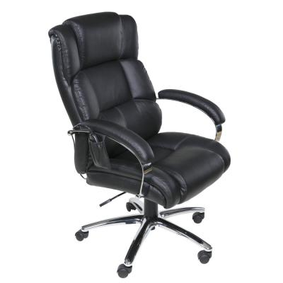 Black Executive 6-Motor Massage Chair with Lumbar Support and Heat