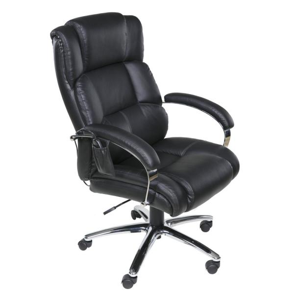 Relaxzen Black Executive 6-Motor Massage Chair with Lumbar Support and Heat