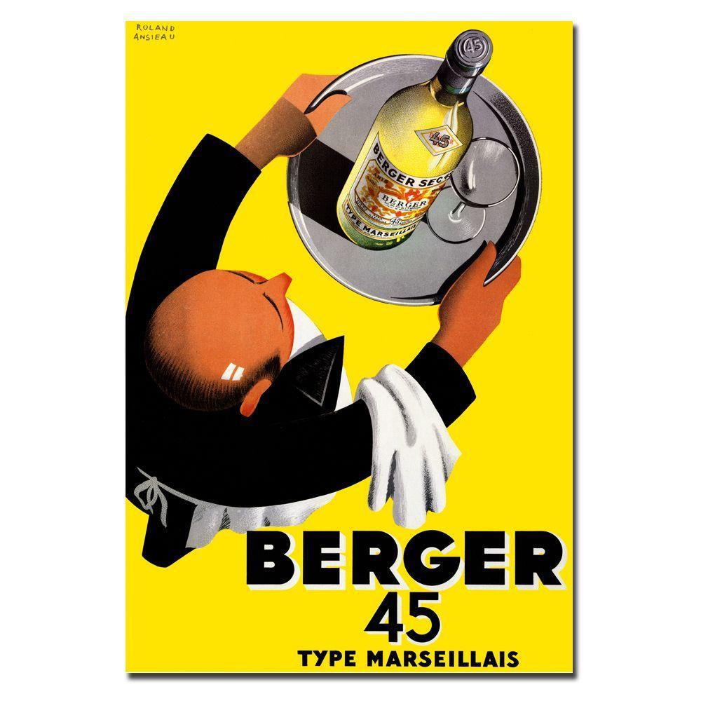 Trademark Fine Art 18 in. x 24 in. Berger 45 by Roland Ansieau Canvas Art