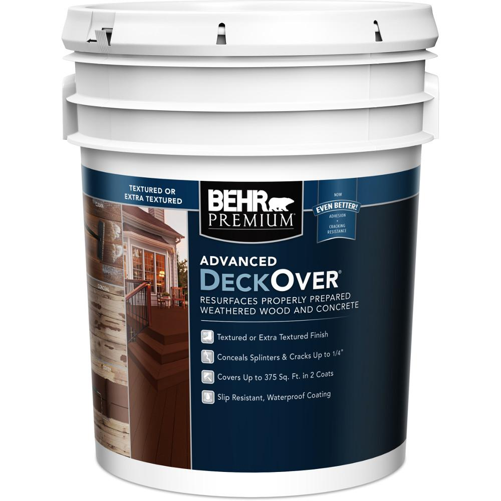 Behr premium 5 gal textured solid color exterior wood and - Exterior textured paint home depot ...