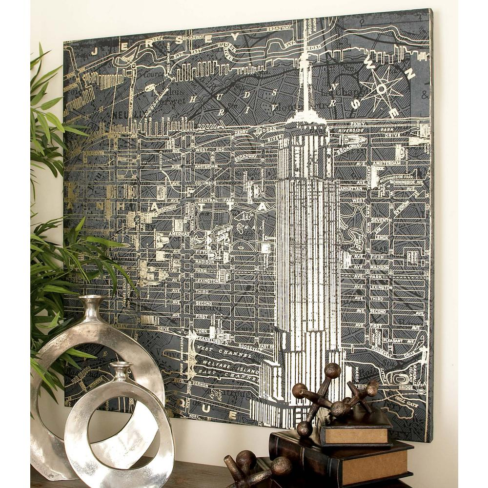 Graphic Style Vintage New York City Canvas Wall Art & 39 in. Graphic Style Vintage New York City Canvas Wall Art-52064 ...