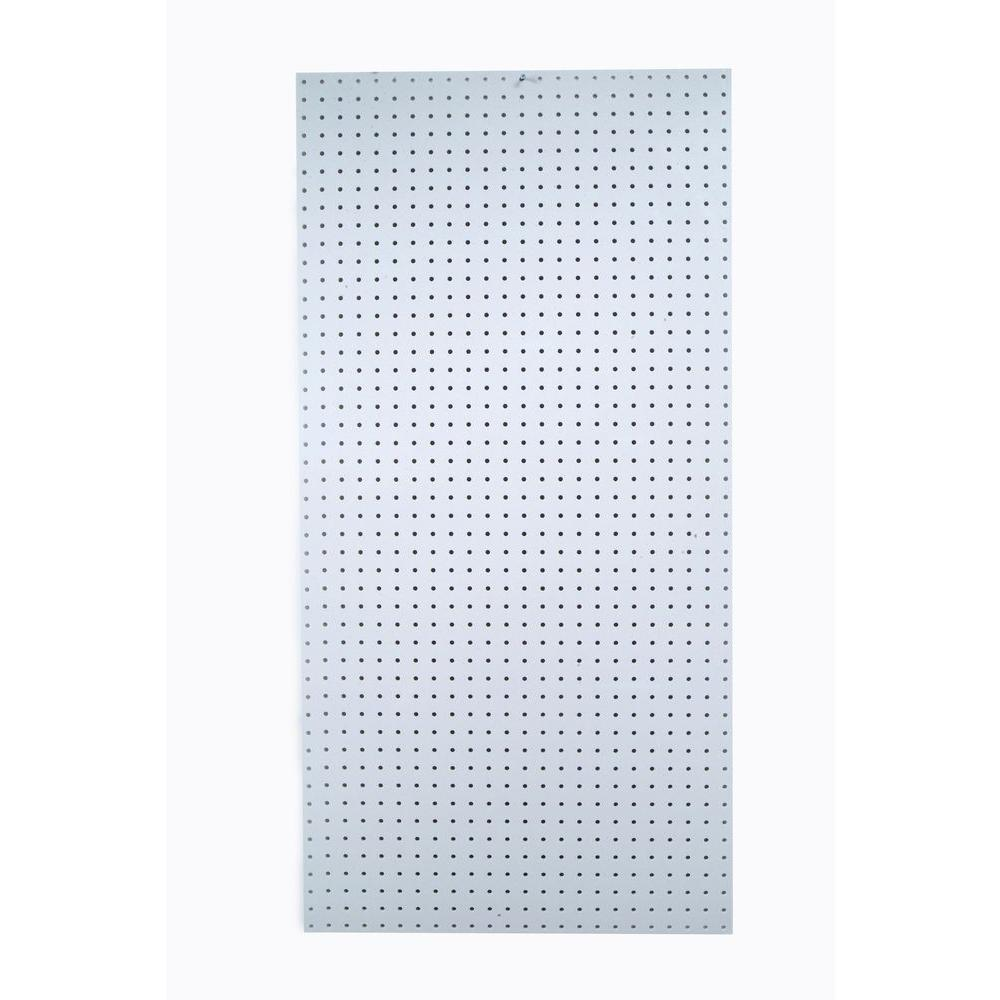 Triton Products DuraBoard 48 in. x 96 in. x 1/4 in. White Polypropylene Pegboard with 9/32 in. Hole Size and 1 in. O.C. Hole Spacing