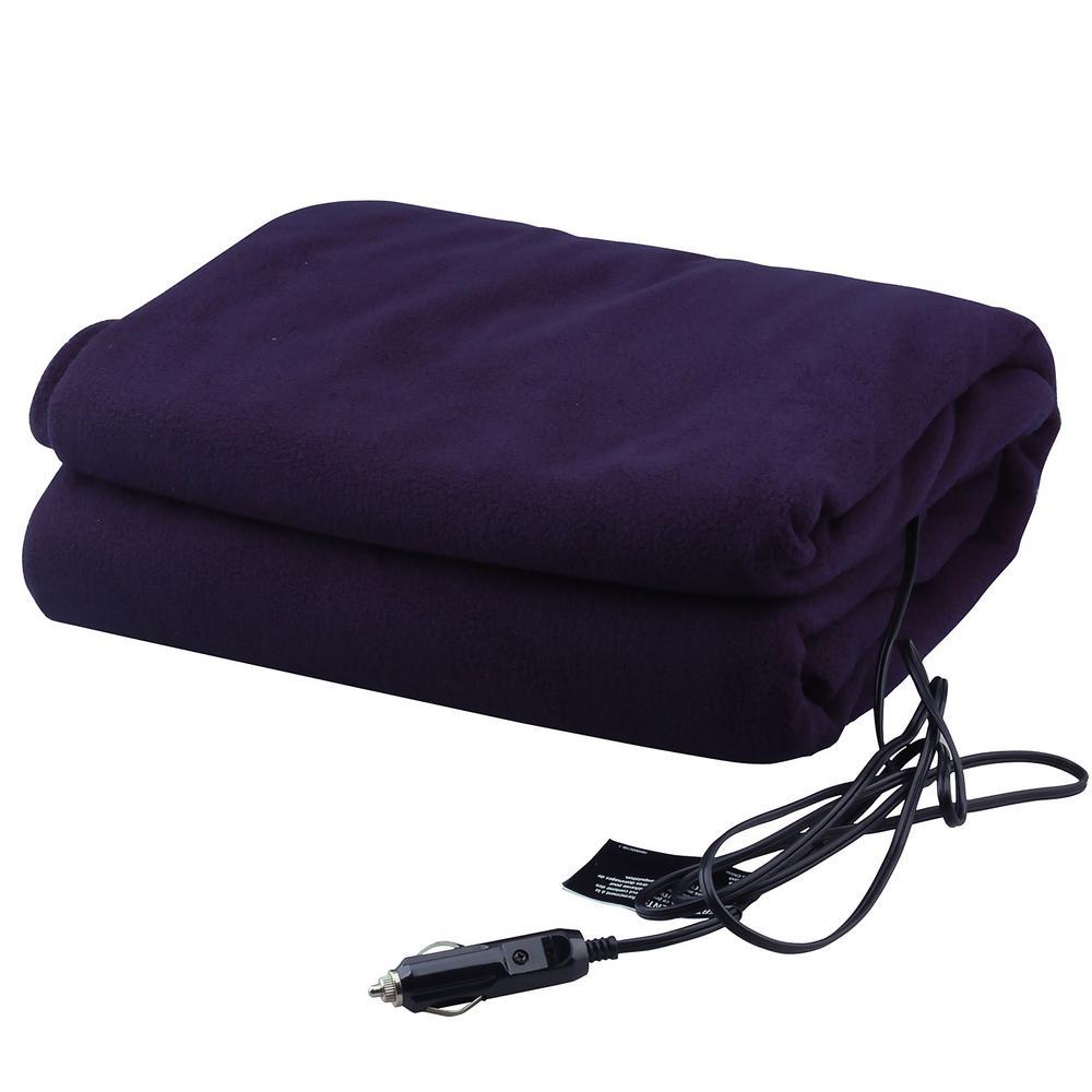 12-Volt Heated Travel Blanket in Navy Blue