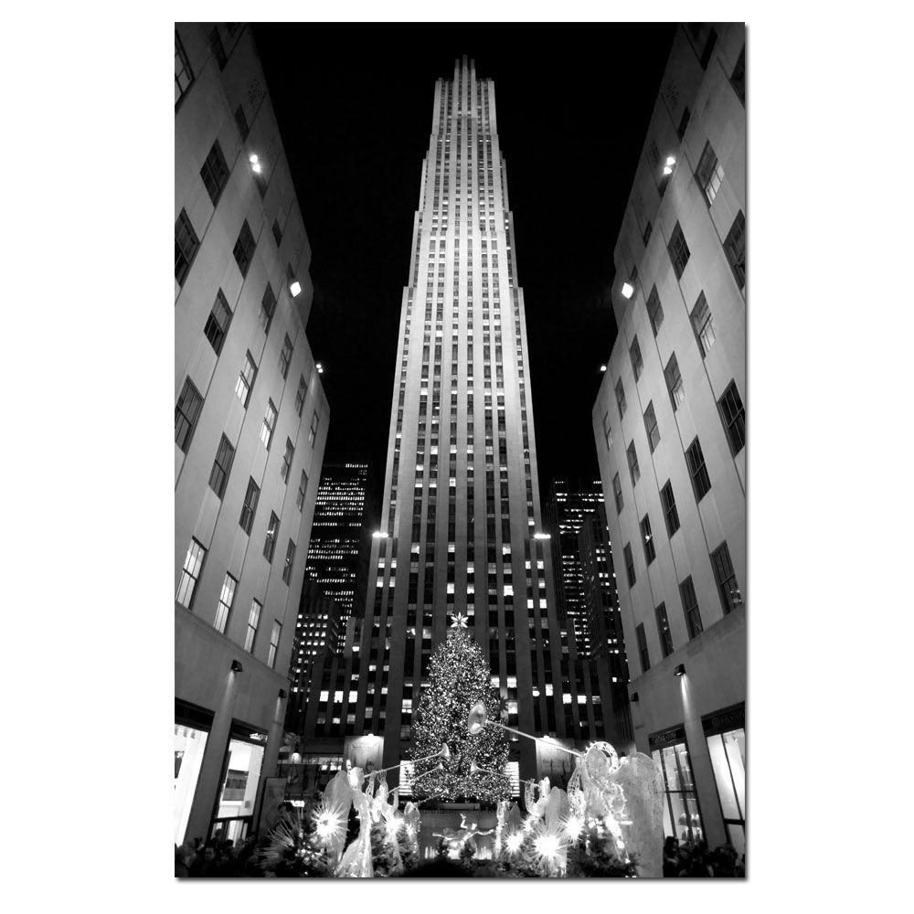 30 in. x 47 in. Rockefeller Night Canvas Art
