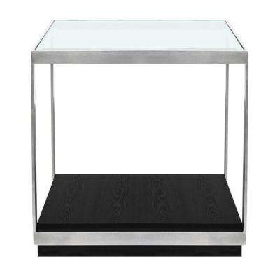 Hopkins Glass Top End Table