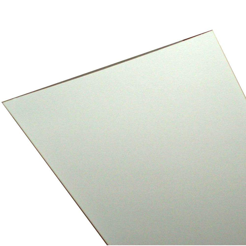 ZipUP Serrated White 8 ft. x 1 ft. Lay-in Ceiling Panel