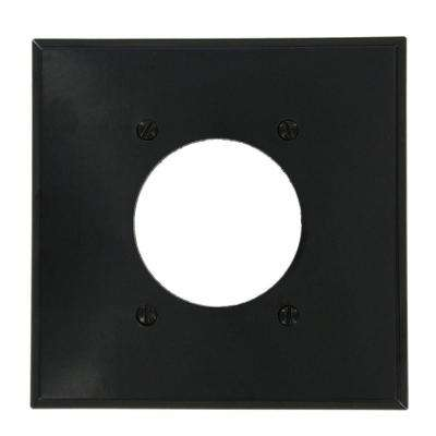 2-Gang Flush Mount Wall Plate, Black