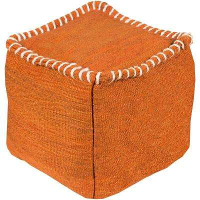 Deressa Burnt Orange Accent Pouf