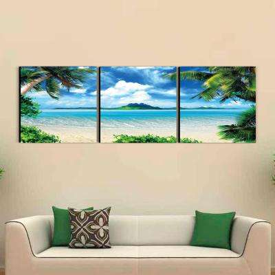 "24 in. x 72 in. ""Coconut Tree Scenery"" Printed Wall Art"