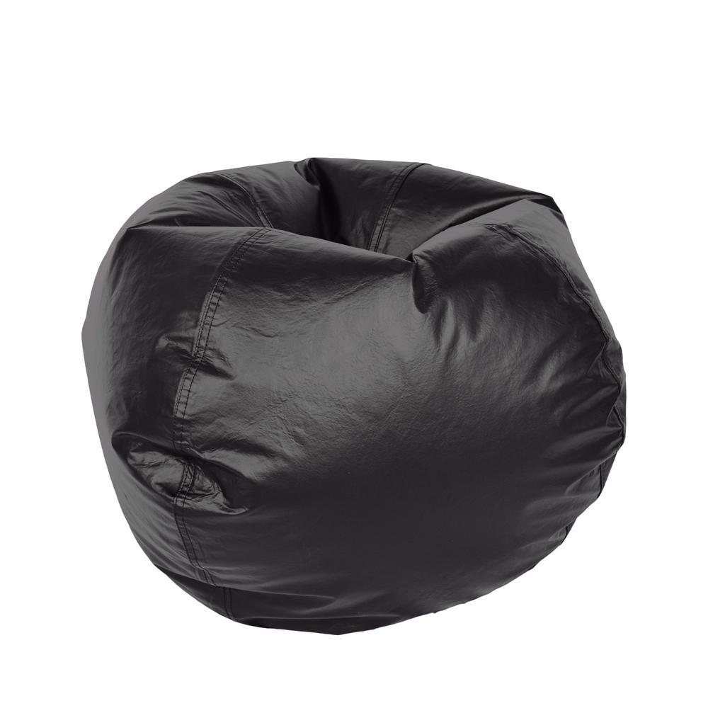Black Vinyl Bean Bag