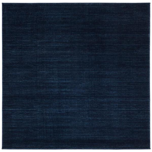 Vision Navy 4 ft. x 4 ft. Square Area Rug