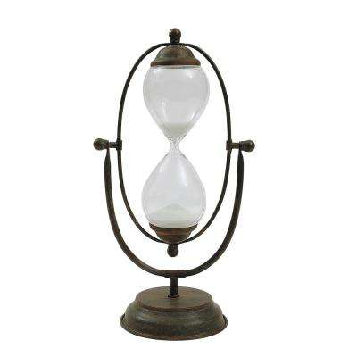 Metal and Glass Decorative Hour Glass
