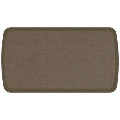 Elite Vintage Leather Mushroom 20 in. x 36 in. Comfort Kitchen Mat