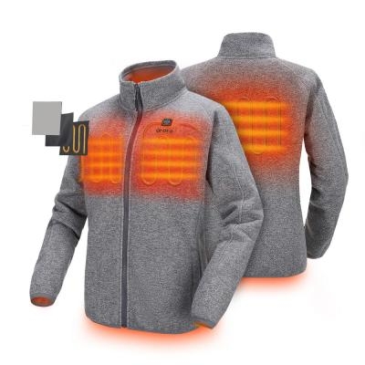 Women's Medium Gray 7.4-Volt Lithium-Ion Heated Fleece Jacket with 1-5.2Ah Battery and Charger