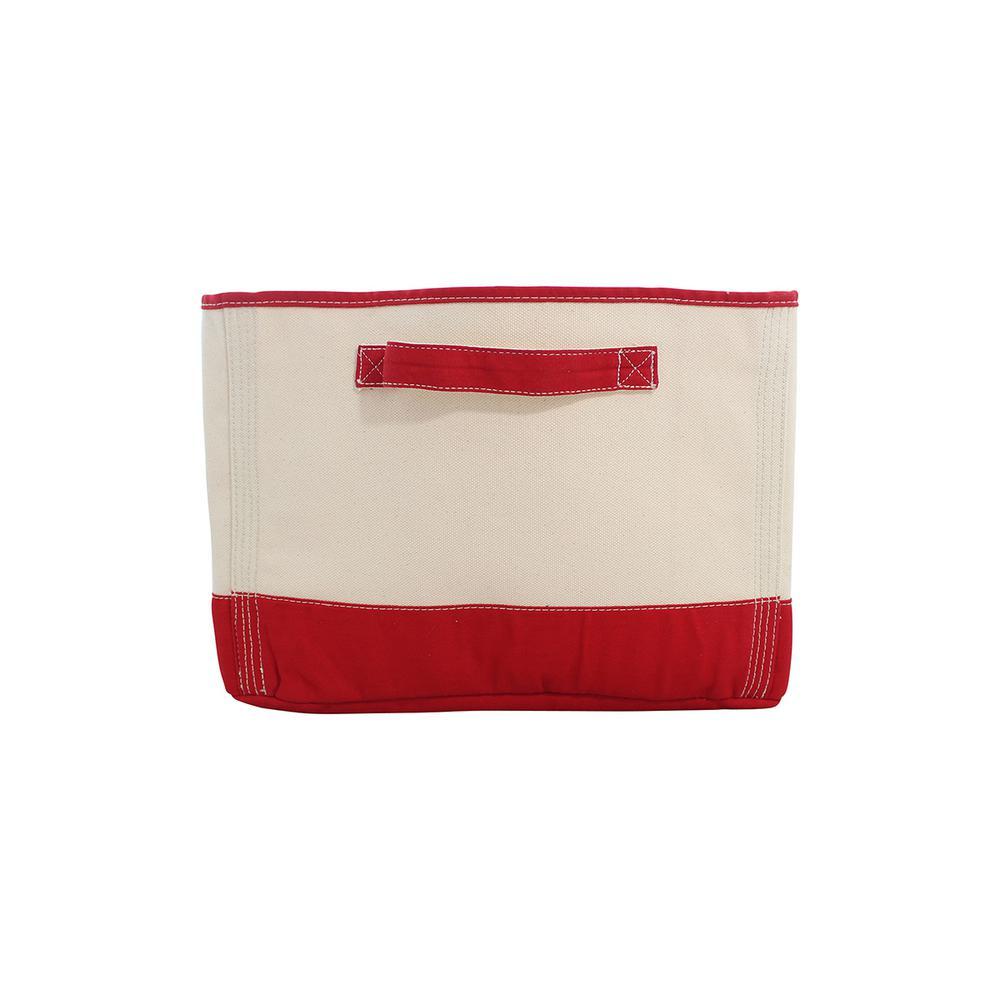 Red Tub Fabric Storage Bin