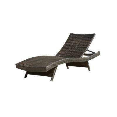 Miller Brown Adjustable Wicker Outdoor Chaise Lounge