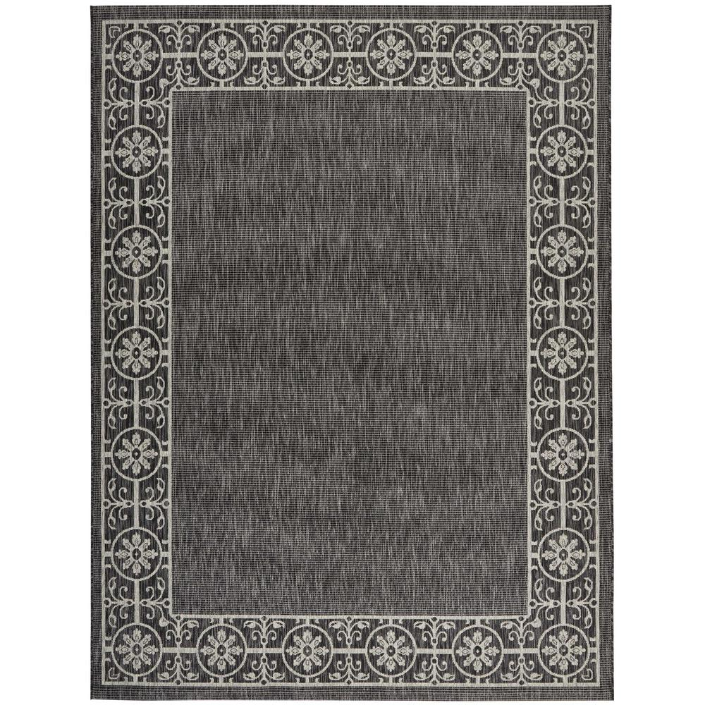 Country Side Charcoal 9 ft. 6 in. x 13 ft. Indoor/Outdoor