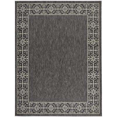 Country Side Charcoal 10 ft. x 13 ft. Indoor/Outdoor Area Rug