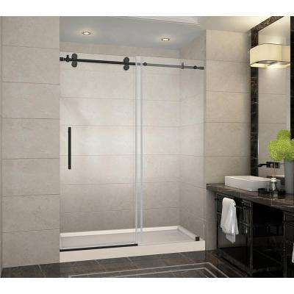 Aston Bronze Bypass Sliding Shower Doors Showers The Home