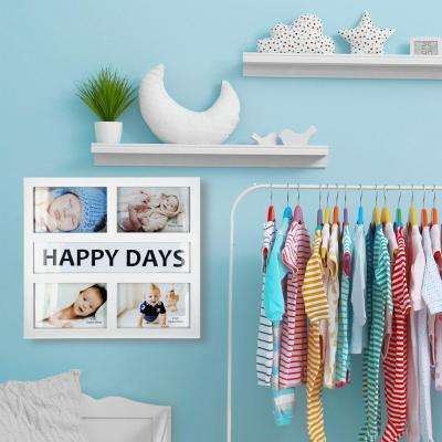 4-Opening 4 in. x 6 in. Happy Days Picture Frame